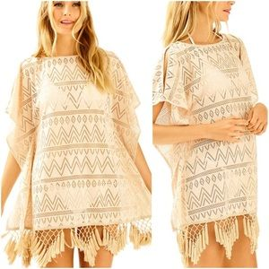 Lilly Pulitzer Metallic Fringed Jerrica Cover Up